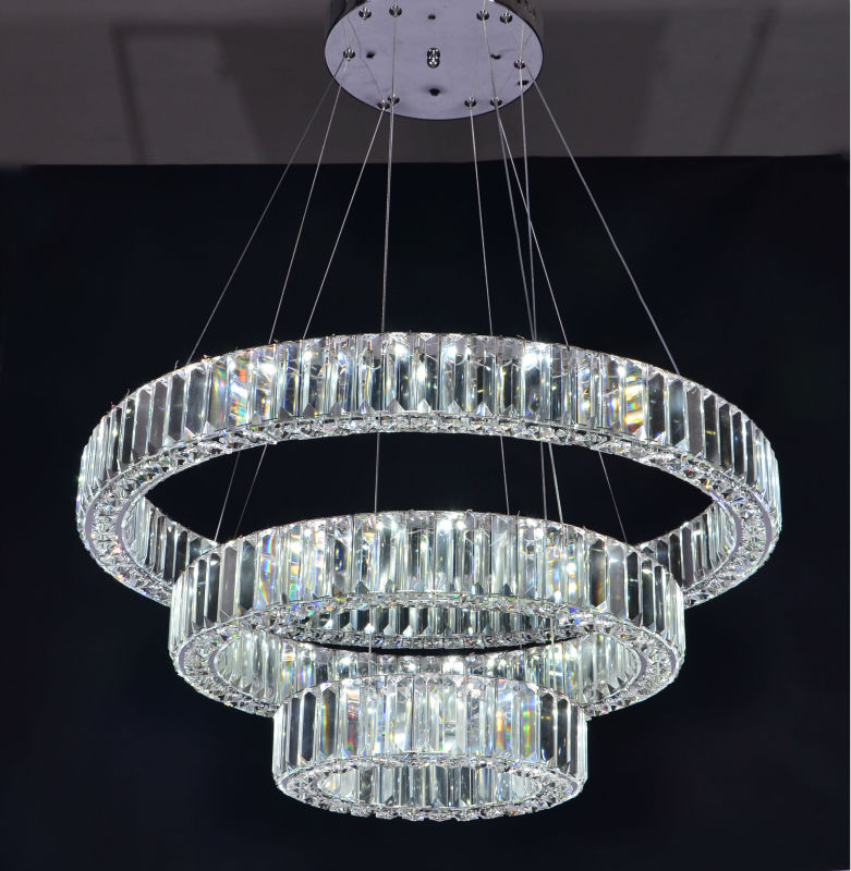 Three Ringsmodern Luxury Crystal Chandelier Led Lighting  Buy Led LightingChandelier Led