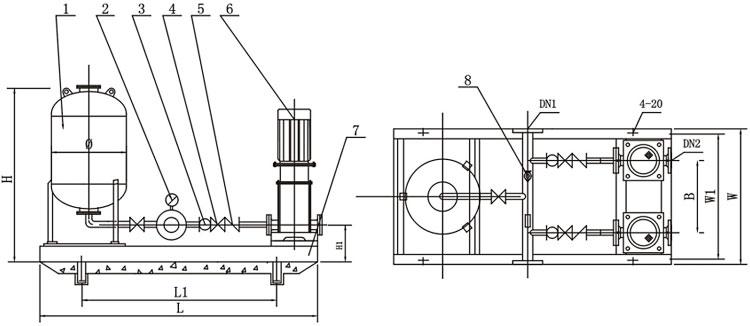 Storage Tank Pressure Vessel With Electric Water Pump