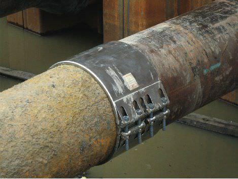 Ductile Iron Pipe Leak Repairing Clamp/body Repair Pulling