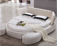 Modern Simple White Fabric Round Bed,Double Bed,Bed Room ...
