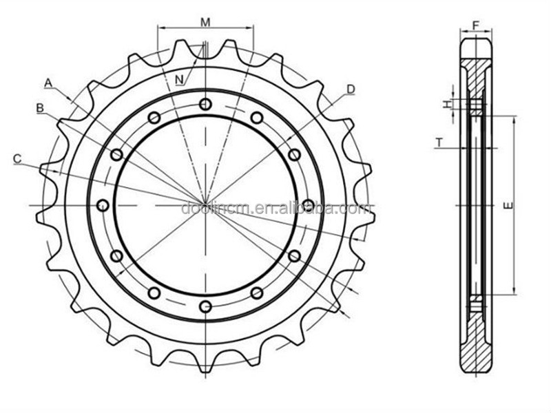 Daewoo Dh300 Excavator Parts /undercarriage Sprocket