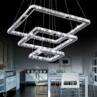 Square Modern Crystal Chandelier For Living Room Dining ...
