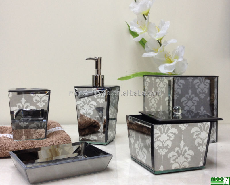 Luxury Home Decor Accessories High End Mirror Glass Bathroom