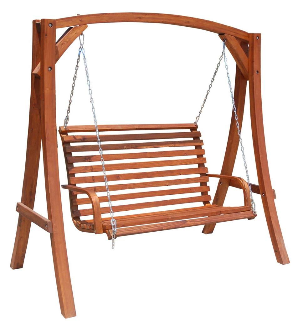 hanging chair wood folding beach solid hardwood outdoor wooden swinging timber bench