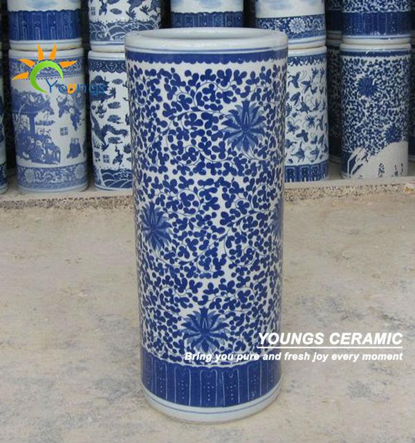 Vario Cinese Blu E Bianco In Ceramica Cilindro Umbrella Stand Vasi  Buy Ombrello StandOmbrello