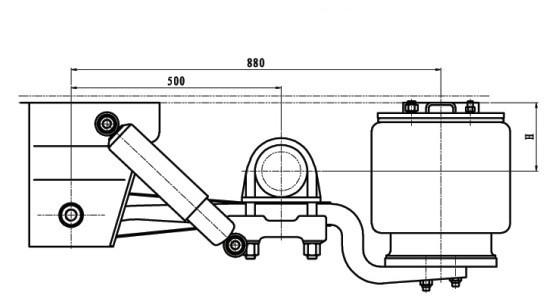 4x4 Wheels Rims Tractor Trailer Single Axle Leaf Spring