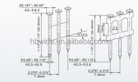 Wire Holding Nails/strip Paper Tape Collated Nails/bright