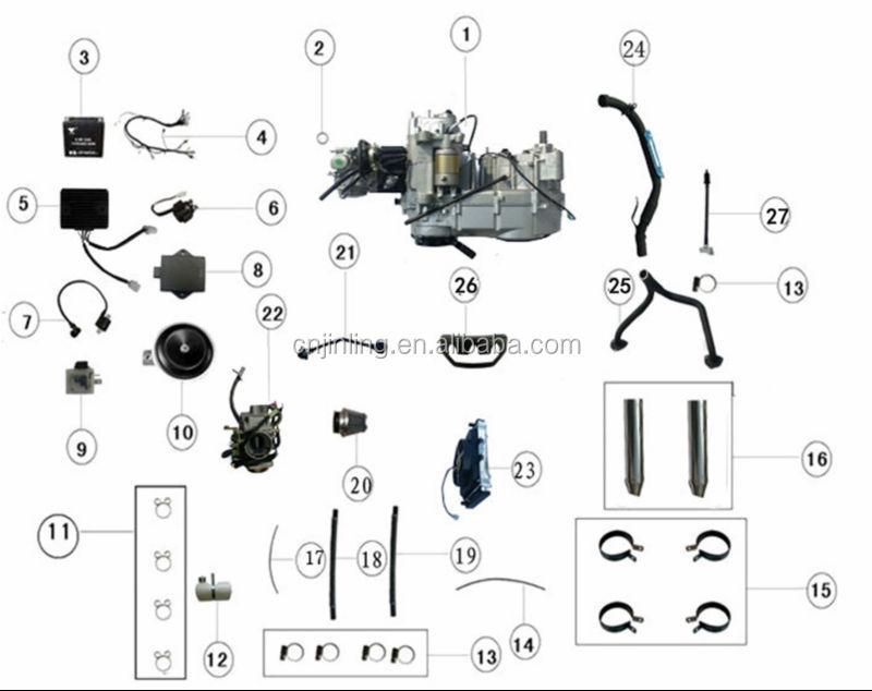 300cc Jinling Atv Parts.jla-931e Speed Star Spare Parts