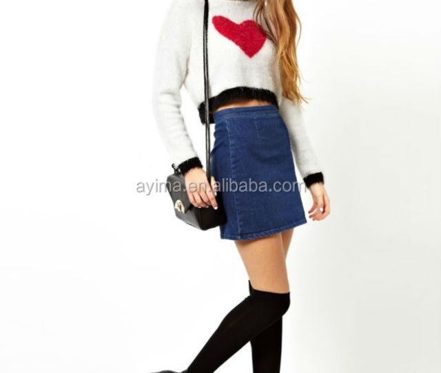 Hot Selling Fashion Designed Blue Girls Denim Skirt Sexy Girls In Short Skirts
