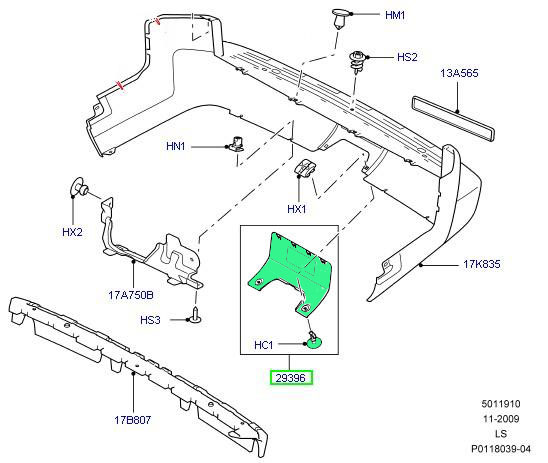 Dpo500011pcl New Moulding For Rear Bumper,Top Quality Land