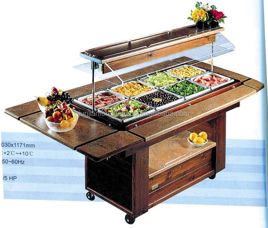Luxury Marble Salad Bar Display Counter Commercial