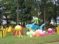 Marine Animal Fish Theme Lantern Show In Outdoor Garden ...