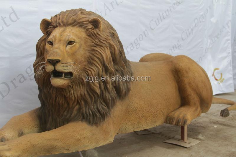 Fiberglass Life Size LionGiraffe And Tiger Statue