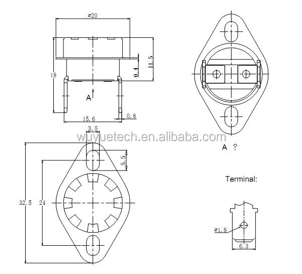 Competitive Price High-tech Ksd301 Bimetal Thermostat
