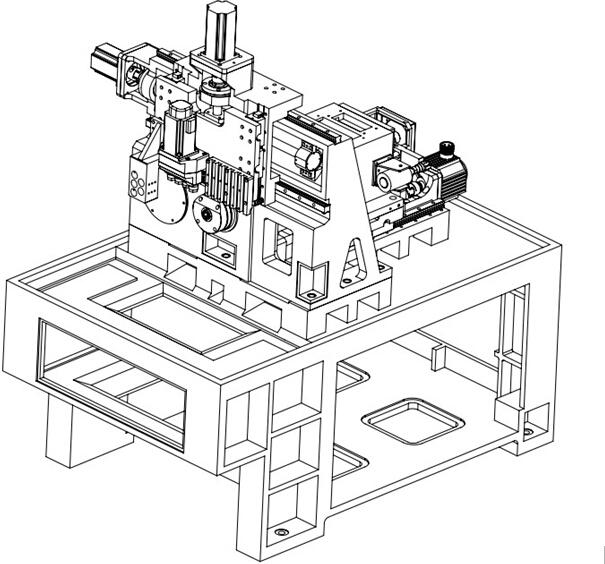 Cnc Machining Center Casting Part Mother Machine/body Cnc