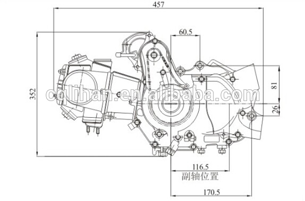 Genuine Single Cylinder C125 Engine 125cc Zongshen For