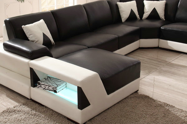 wooden sectional sofa bed courts sg 2015 new design with led lighting ...