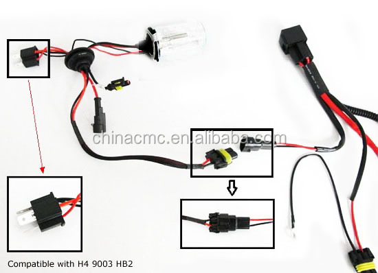 3 Lamp Ballast Wiring Diagram H3 H4 H7 H11 9005 9006 Hid Conversion Kit Relay Wire