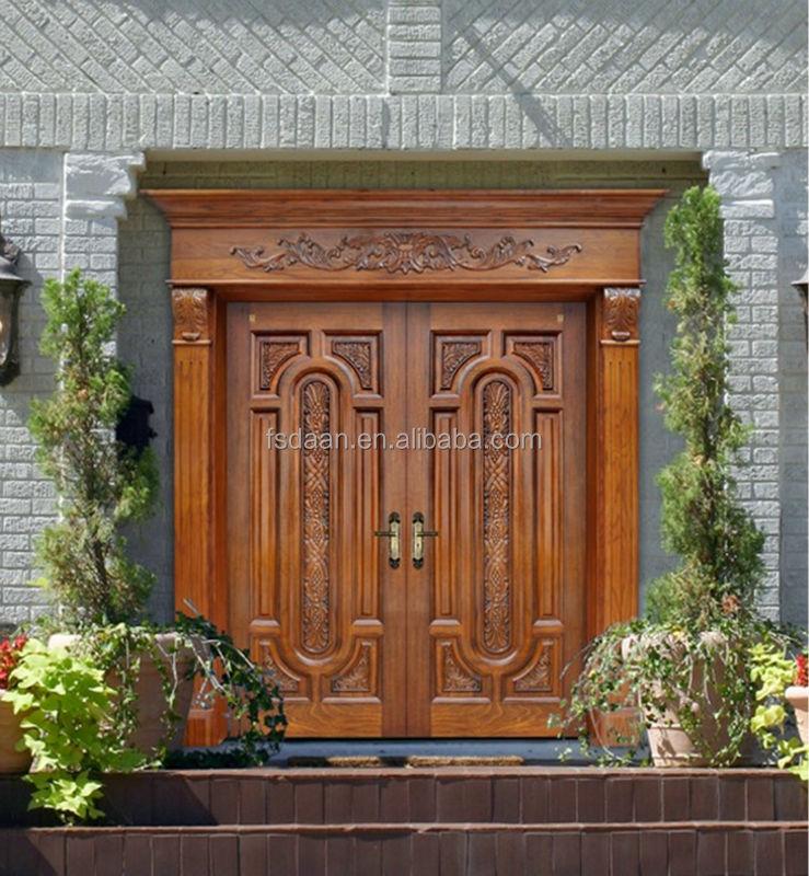 Luxury Exterior Wooden Double Door Designs