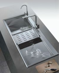 Large Kitchen Sinks Stainless Steel Deep Bowl Sink With ...