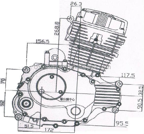 1 Cylinder Engineering 150cc Motorcycle Engine Stator