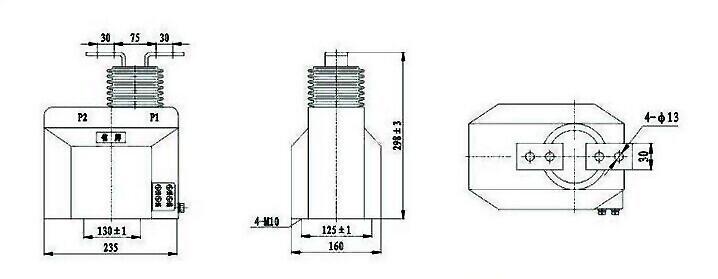 Lqj-10 Hv Indoor Epoxy Resin Ct Current Transformer Type