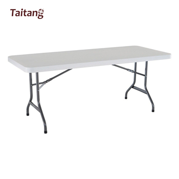 facile a transporter en plastique table pliante pour exposition et salon