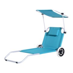 Beach Chair With Wheels 2 Seater Dining Table And Chairs Lightweight Aluminum Durable Sunshade Folding Buy Aluminium