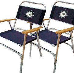 Folding Chairs For Boats Wicker Outdoor Adelaide Buy Marine Deck Chair Boat Anodized Aluminum Navy Blue Set Of 2