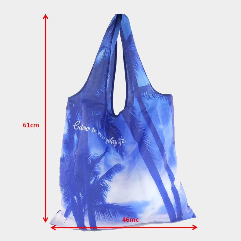 2019 Private customized Salon Shop Owner Custom Foldable Nylon Shopping Gift Bag