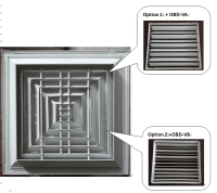 Hvac Air Conditioning Square Ceiling Diffuser