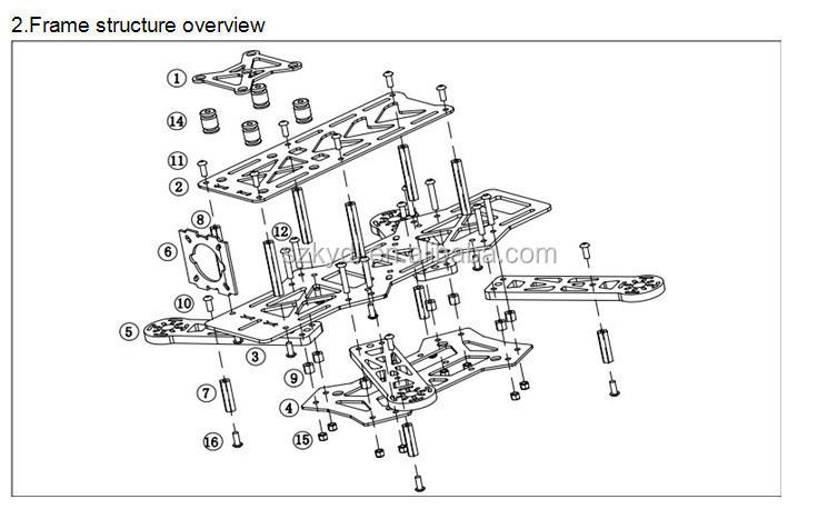 Qav250 Diy Quadcopter Kit & Emax Mt1806 Brushless Motor