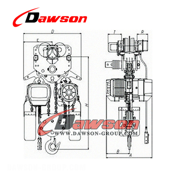 Best Selling 2 Ton 3 Ton 5 Ton Pulley Chain Block Hs Type