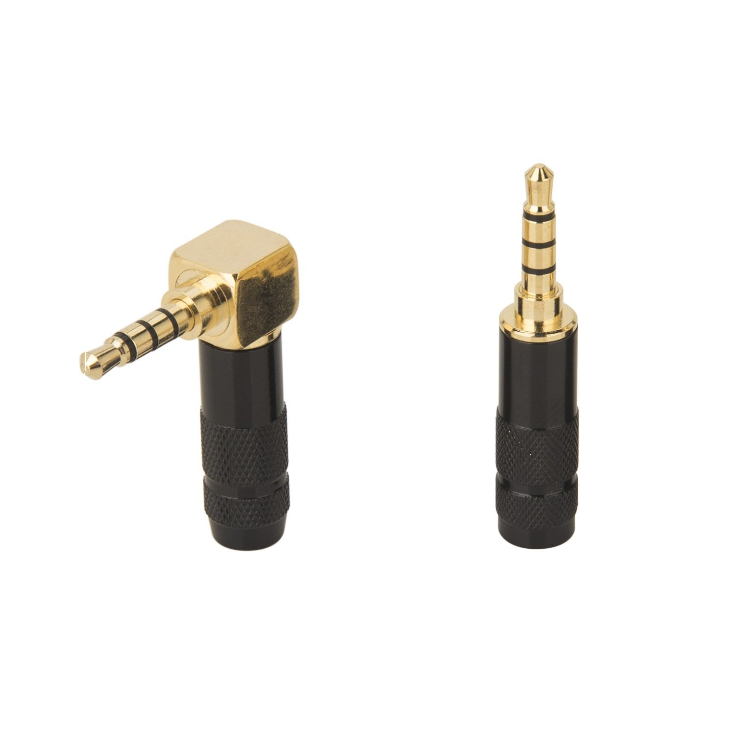 hight resolution of get quotations timibis 2pcs 4 pole 3 5mm barss stereo audio plug jack connector male headphone jack soldering