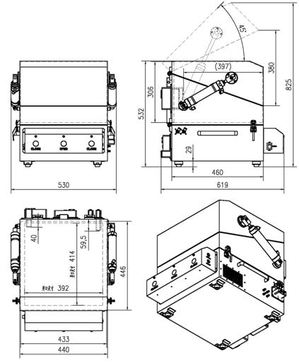 Double Layer Pneumatic Rf Shield Box/cabinet/enclosure