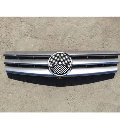 motorfansclub front silver cl style grille for mercedes benz sl class w129 r129 [ 1000 x 1000 Pixel ]