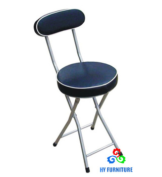 Small Round Folding Chair With Durable And Padded Seating