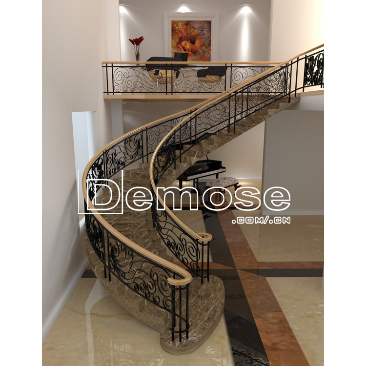 Building Materials Wrought Iron Curved Staircase Design Buy   Wrought Iron Circular Staircase   Wooden   Living Room   Artistic   Rail   Modern