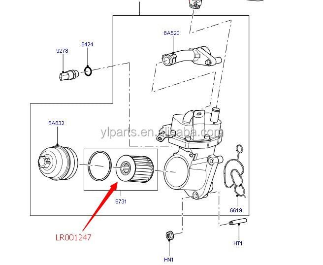Lr001247 Hot Selling Car Engine Oil Filter/fuel Filter For