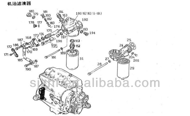 Deutz 912 913 Diesel Engine Spare Parts Oil Filter Bracket