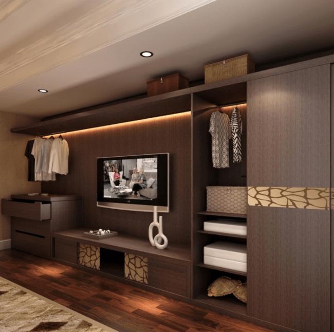 Melamine Board Wardrobe With Tv Cabinet Living Room ...