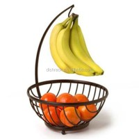 Chrome Metal Fruit Basket With Banana Holder - Buy Fruit ...