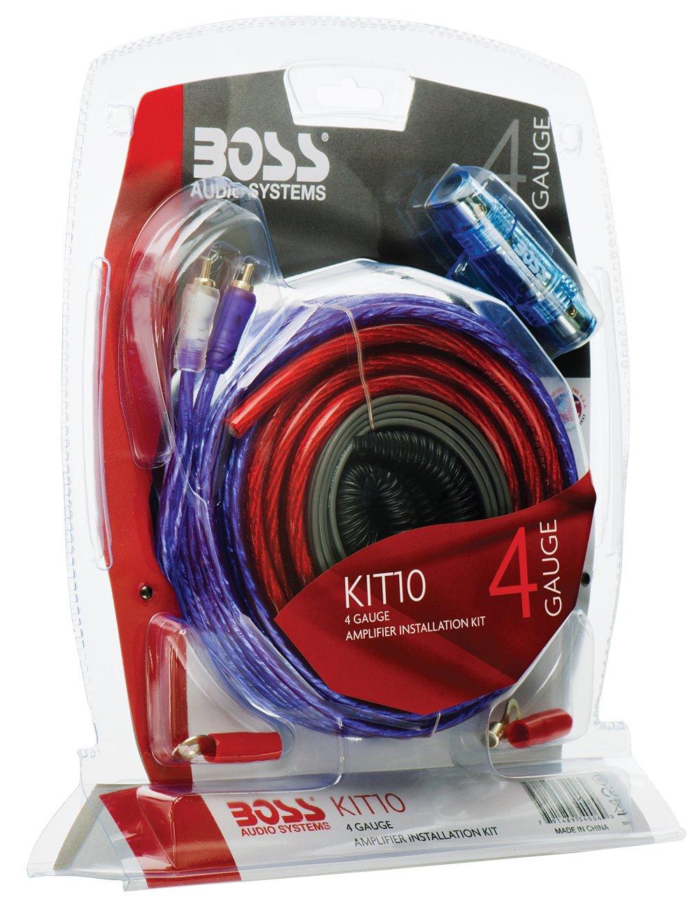 medium resolution of get quotations boss audio kit10 4 gauge amplifier installation wiring kit a car amplifier wiring kit helps