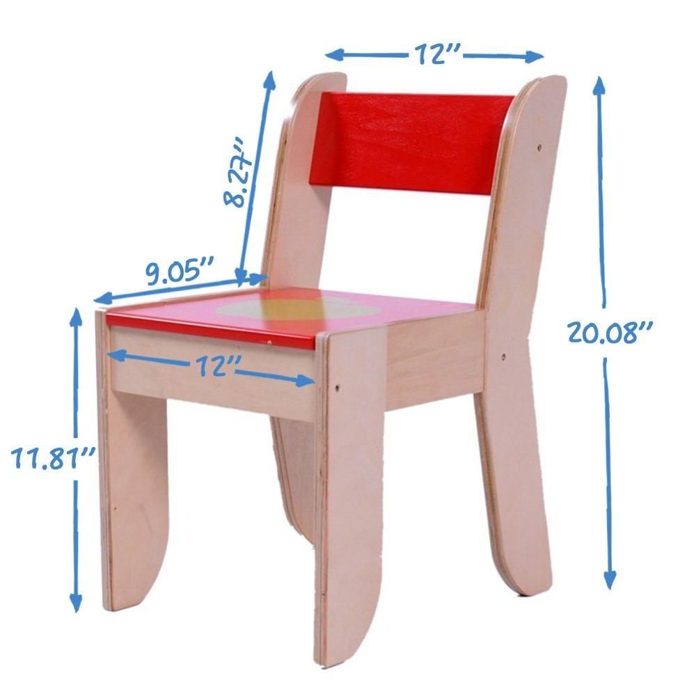 Toddler Wooden Chair Children Wooden Furniture Activity Table And Chair Set For 1 5 Years Old With Chalkboard For Painting Reading Group Play In Cla Buy Children Wooden