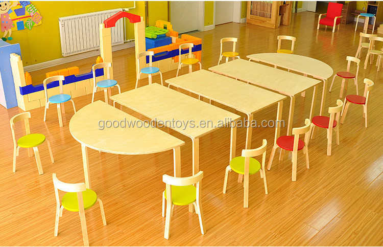New Design Plywood Material Kindergarten Table And Chairs