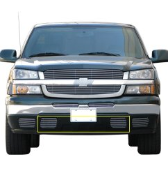 e autogrilles aluminum polished 4mm horizontal overlay tow hook billet grille for 03 05 chevrolet silverado 1500 03 06 chevrolet avalanche 1500 2500  [ 1023 x 1023 Pixel ]