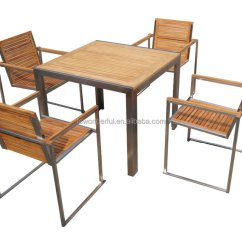 Teak Table And Chairs Garden The Big Chair China Furniture Wholesale Alibaba Set Outdoor