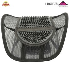Posture Alignment Chair Outside Chaise Lounge Chairs Buy Fomi Mesh Lumbar Support For Lower Mid Back Breathable Massage Bead