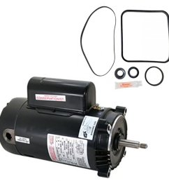 get quotations hayward super pump 2 5 hp sp2621x25 replacement motor kit ao smith ust1252 w go  [ 1000 x 1000 Pixel ]