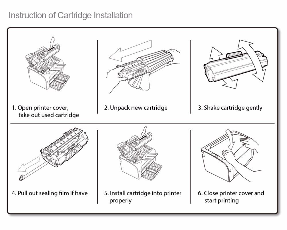 medium resolution of compatible for hp laser printer cp2025 2020 2320 color toner cartridge